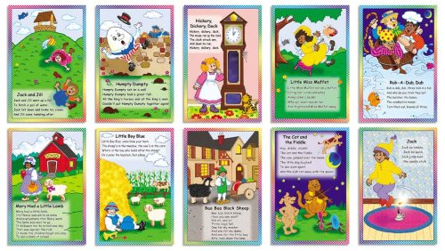 Scholastic Teacher'S Friend Nursery Rhymes Posters! Bulletin Board (Tf3087)