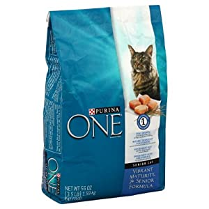 Purina ONE Vibrant Maturity Cat Food, 7+ Senior Formula, 3.5 Lb, (Pack of 2)
