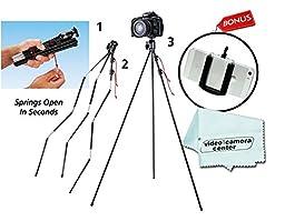 Tamrac ZIPSHOT SPRINGLOADED TRIPOD MINI TR404 For Cameras,Bonus Universal Smartphone Tripod Adapter for iPhone 4,4S,5, 5s, 6, HTC One, Galaxy S2, S3, S4, S5,S6 Edge,Motorola Droid & Most Smartphones