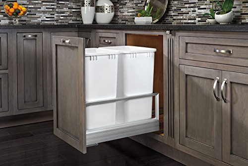 Rev-A-Shelf - 5149-2150DM-211 - Double 50 Quart Pullout Waste Containers