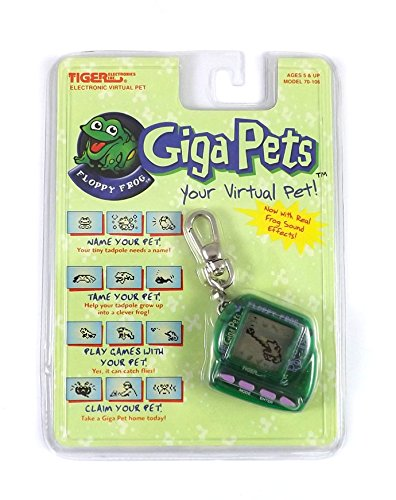 Giga-Pets-Floppy-Frog-1997-Original-Tiger-Electronic-Virtual-Pet-LCD-Game