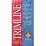 NIV Trimline Bible, Snap Flap, Burgundy