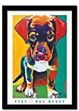 Toby Beagle Pop Art 24 X 28 Ron Burns Framed Art Print
