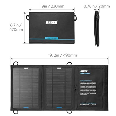 Anker PowerPort Solar (Dual-Port USB Solar Charger) for iPhone 6s / 6 / Plus, iPad Air 2 / mini 3, Galaxy S6 / Edge / Plus and More