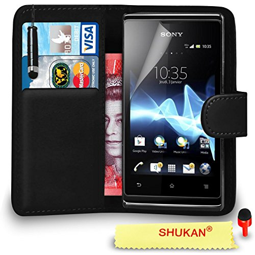 sony-xperia-e-premium-leather-black-wallet-flip-case-cover-pouch-with-mini-touch-stylus-pen-red-dust