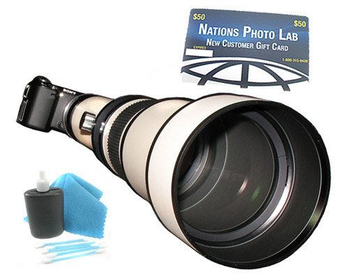650-1300Mm Super-Telephoto Zoom Lens With Manual Focus For Sony Nex Digital Cameras