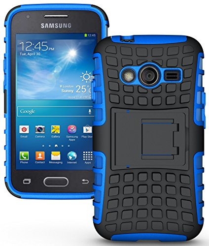 NAKEDCELLPHONE BLUE GRENADE GRIP RUGGED TPU SKIN HARD CASE COVER STAND FOR SAMSUNG GALAXY ACE-4 (Lite G313 G313H) (Samsung Ace 4 Lite G313 compare prices)