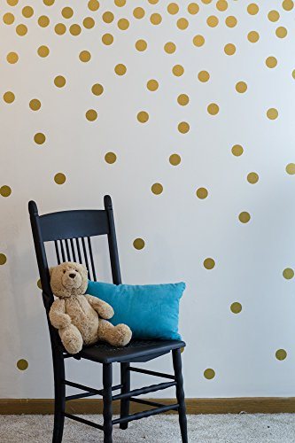 Gold Decal Wall Dots