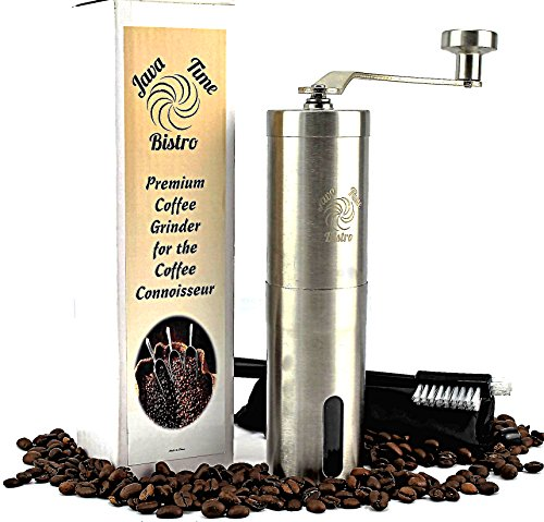 Java Time Bistro Stainless Steel Manual Conical Burr Coffee Grinder