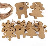 Fenical 100pcs Christmas Snowflake Pendants Christmas Ornaments Party Tree Decoration 20M Rope