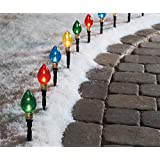 Multi-Color Light Bulb Pathway Markers, 10-Pack (Color: Color Lights)