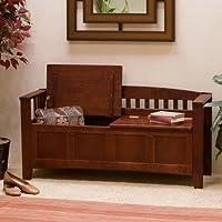 Linon Hunter Storage Bench - Walnut by Linon Home Decor Products Inc