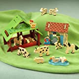Traidcraft Wooden Farmyard Playset