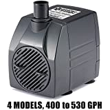 PonicsPump PP40006: 400 GPH Submersible Pump with 6' Cord - 25W... for Hydroponics, Aquaponics, Fountains, Ponds, Statuary, Aquariums & more. Comes with 1 year limited warranty.