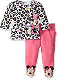 Disney Baby Girls' Minnie Mouse Fleece Jacket and Pant Set, Pink, 0-3 Months
