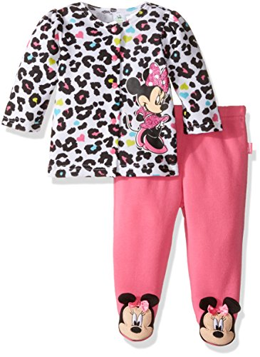 Disney Baby Girls' Minnie Mouse Fleece Jacket and Pant Set, Pink, 6-9 Months (Fleece Baby Pants compare prices)