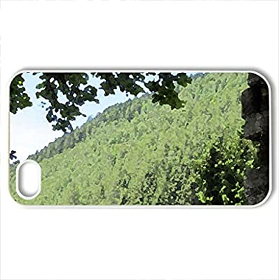 Annecy - France #9 - Case Cover for iPhone 4 and 4s (Mountains Series, Watercolor style, White)