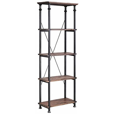 Stein World Furniture Metal Étagère/Bookcase, Natural Reclaimed Wood