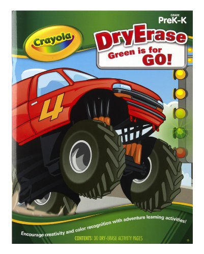 Crayola Dry Erase Learning Activity Workbook Green Is For Go