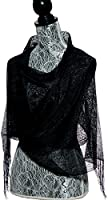 Elles Clothing Sheer Mesh Glitter Sparkle Shawl Wrap Fringe Prom Weddings Party Evening Scarfs for Women, Mothers day gifts