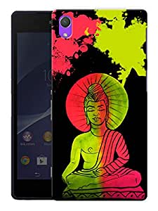 "Humor Gang Buddha Neon Art Trippy Printed Designer Mobile Back Cover For ""Sony Xperia Z2"" (3D, Matte, Premium Quality Snap On Case)"