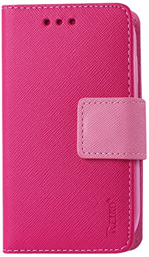 Reiko Flip Wallet Case 3-In-1 Leather Case Cover with Stand Function for Samsung Galaxy Ace - Retail Packaging - Hot Pink (Reiko Flip Wallet Case Galaxy Ace compare prices)