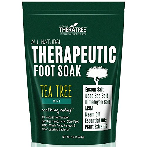 Oleavine Tea Tree Oil Foot Soak with MSM, Neem and Epsom Salt 16oz (Salt For Feet compare prices)