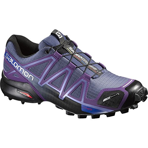 Salomon Women's Speedcross 4 CS W Trail Runner, Slate Blue/Cosmic Purple/Black, 7.5 B US (Speedcross Cs Salomon compare prices)