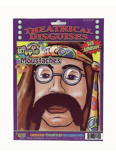 Hippie Moustache Costume Accessory