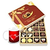 Valentine Chocholik Belgium Chocolates - Elegance In Style Beautiful Chocolates With Love Mug