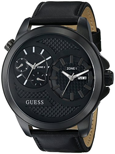 guess mens watches uk watches store part 5 guess u0184g1 55mm stainless steel case crocodile mineral men s watch