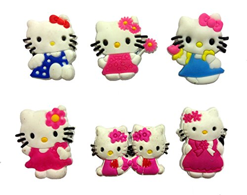 Hello Kitty Fridge Magnets 6 Pcs Set #2