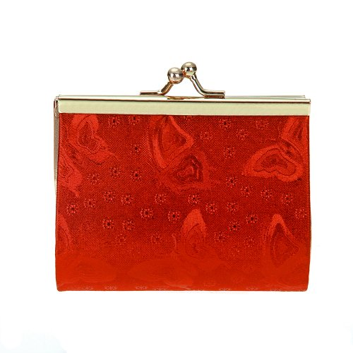 6Pcs Wedding Party Favor Baby Shower Candies Sweets Gift Bag Wallet Red Sequins front-720958