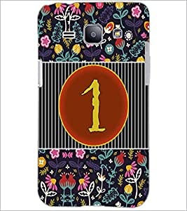 PrintDhaba Numerology Number 1 D-3087 Back Case Cover for SAMSUNG GALAXY J1 (Multi-Coloured)