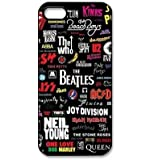 Season.C Love Music Rolling Stone Band The Who AC/DC Music Band Skin Hard Back Case Cover for iPhone 5 5S