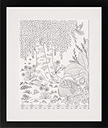 Basket of Strawberries - Personalized Wall Art 16x20 Matted DIY Giant Coloring Poster Artwork to Color or Paint & Hang (Frame Not Included)