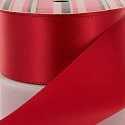 "3"" Red Double Faced Satin Ribbon 3 yard"
