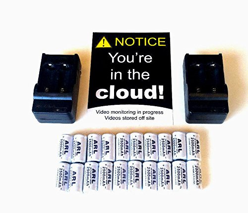 Rechargeable batteries kit for Netgear Arlo Security Camera - 20 battery pack (Battery For Camera compare prices)