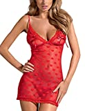 Obsessive Lovia Charming Chemise With Thong Set Perfect For Valentine's Day