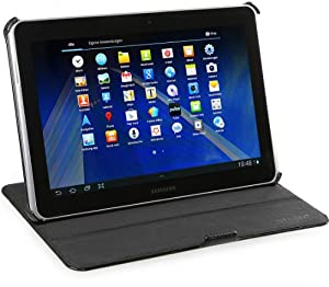 StilGut UltraSlim Case V2, Tasche mit Stand- und Präsentationsfunktion für Samsung Galaxy Tab 2 10.1, schwarz