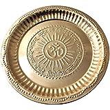 Dakshcraft ® Traditional India Pure Copper Pujathali With Om Sysmbol & Gayatri Mantra, (Dia 8.70 Inch)