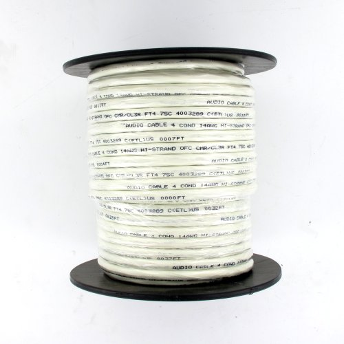 Theater Solutions C100-14-4 Cl3 Four Conductor Speaker Wire 14 Gauge 100 Feet Ul Listed