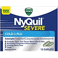 Vicks NyQuil Severe Cough Cold and Flu Relief (12-Caplets)