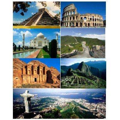 Cheap Jumbo 7 New Wonders of the World – 1000pc Jigsaw Puzzle by Jumbo (B001GX5C3A)