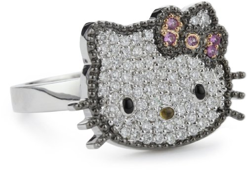 "Hello Kitty by Kimora Lee Simmons ""Glam"" Ring, Size 7"