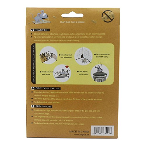 Mouse and snake glue traps sticky boards professional strength 2 traps