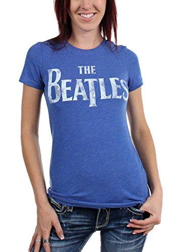 Beatles, The-Maglietta con logo da donna Light Blue X-Large