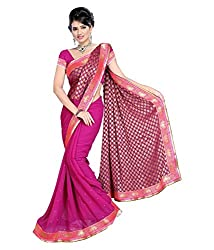 My online Shoppy Chiffon Saree (My online Shoppy_7_Pink)
