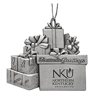 University of Northern Kentucky - Pewter Gift Package Ornament