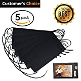 """Black Waitress Apron - 5 pack with 3 Pockets: 7.9x6.5"""" – Commercial Grade 35% Cotton & 65% Polyester – Professionally Hemmed Edges to Last – Smart Look, Low Crease – Machine Wash, Iron, Quick Dry"""